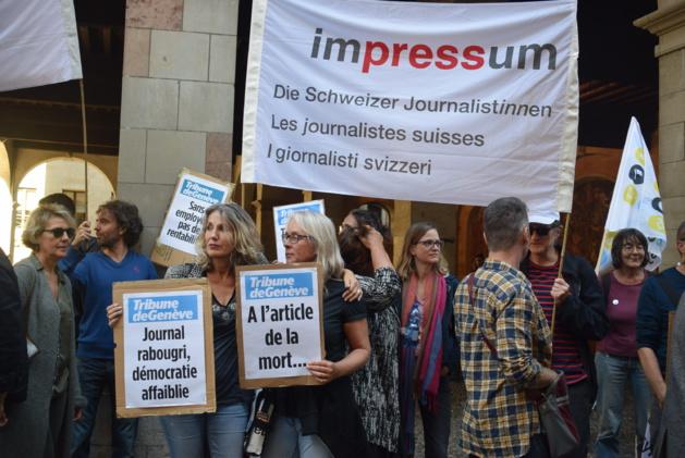 Une quarantaine de manifestants pour soutenir «une presse locale forte et indépendante»