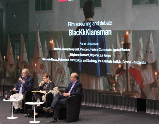 De g. à d. Riccardo Bocco, Martine Brunschwig Graf et Stéphane Bussard