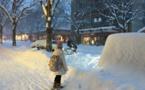 La plaine du Rhône ensevelie par la neige, les Valaisans mécontents.